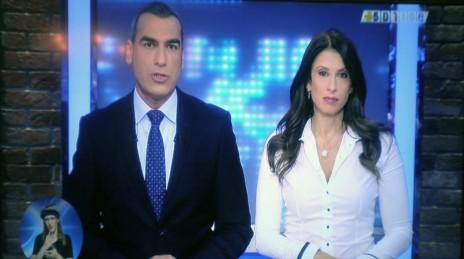 מירי נבו ואלי אילדיס בחדשות הספורט בערוץ הספורט (צילום מסך)
