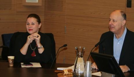חברי-הכנסת צחי הנגבי וקסניה סבטלובה בדיון בוועדת החוץ והביטחון, 2.2.16 (צילום: אורן פרסיקו)
