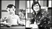 סמי (מימין) וסוסו, כוכבי שידורי הערוץ הראשון בערבית בראשית ימי רשות השידור (צילומי מסך)