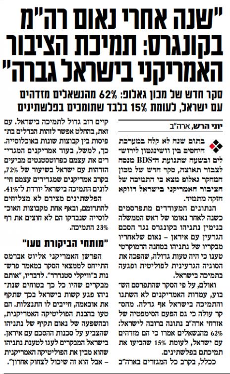 """""""ישראל היום"""", 3.3.2016"""
