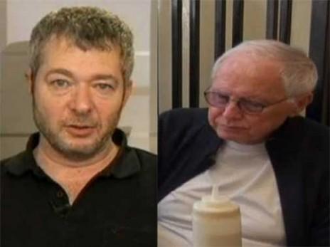 היחצנים ראובן אדלר (מימין) ומוטי מורל (צילומי מסך)