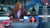 """אראל סג""""ל חובש פאה אדומה בתוכנית """"הפטריוטים"""" בערוץ 20 (צילום מסך)"""
