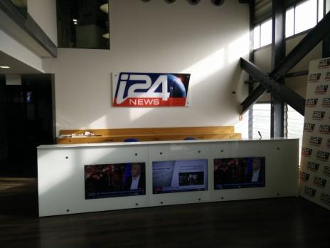 אולפני i24News (צילום: אורן פרסיקו)