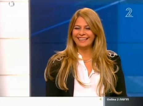 """ענבל אור בתוכנית """"פגוש את העיתונות"""", לאחר שאיבדה את האפשרות לרכוש אתה הקרקע לפרויקט הדגל שלה, """"אור בבלי"""", 15.2.14 (צילום מסך)"""