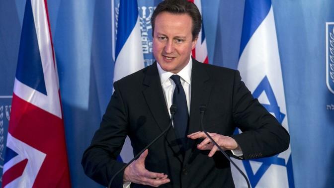 ראש ממשלת בריטניה, דייוויד קמרון, במסיבת עיתונאים משותפת עם בנימין נתניהו. ירושלים, 12.3.14 (צילום: אוליבייה פיטוסי)