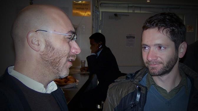 """אורי בלאו וניר בכר, ינואר 2011 (צילום: """"העין השביעית"""")"""