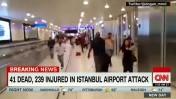 זירת הפיגוע באיסטנבול (צילום מסך: CNN)