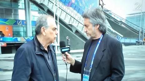 רמי וייץ ואברם גרנט ביורו בערוץ 2 (צילום מסך)