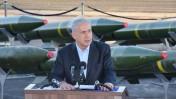 ראש הממשלה בנימין נתניהו נואם על רקע טילים איראניים (צילום: יהודה בן-יתח)