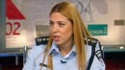 """דוברת המשטרה, מירב לפידות (צילום מסך מתוך התוכנית """"תיק תקשורת"""")"""