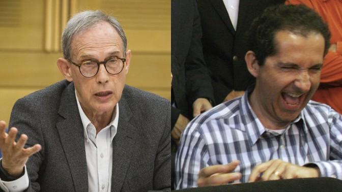"""פטריק דרהי (מימין) וח""""כ נחמן שי (צילומים: פלאש 90)"""