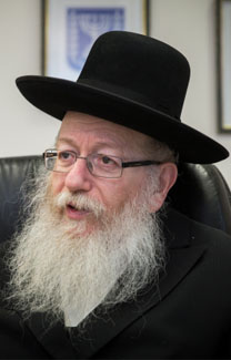 שר הבריאות יעקב ליצמן (צילום: הדס פרוש)
