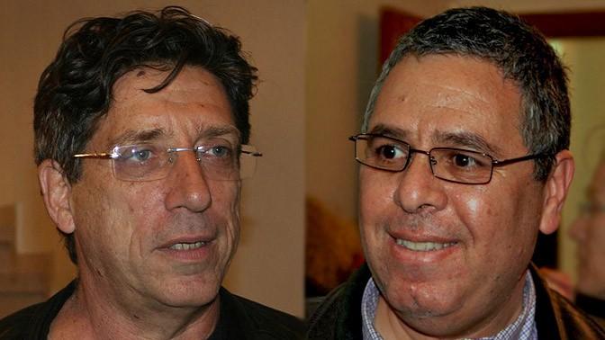 """סגן עורך """"גלובס"""" אלי ציפורי (מימין) והעורך חגי גולן (צילומים: """"העין השביעית"""")"""