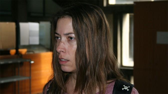 שרון שפורר, לפני דיון בתביעת הדיבה בבית משפט השלום בתל-אביב, 27.12.15 (צילום: אורן פרסיקו)