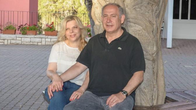 """בנימין ושרה נתניהו בעת טיול ברמת-הנדיב, 25.4.16 (צילום: עמוס בן-גרשום, לע""""מ)"""