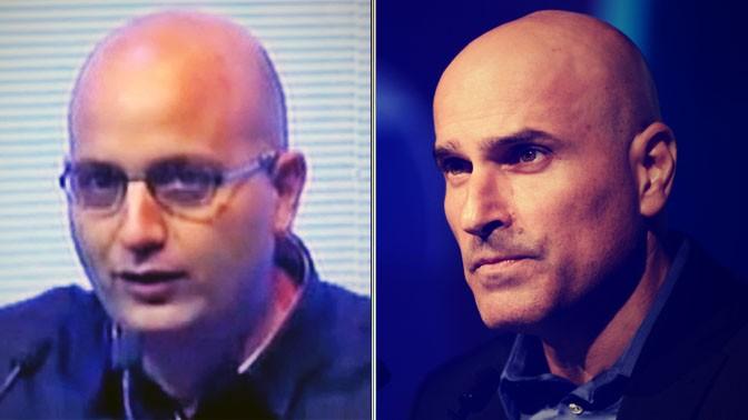 ראש לשכת עורכי-הדין אפי נווה (מימין) ועורך ynet אמנון מרנדה (צילומים: פלאש 90 וצילום מסך)