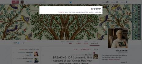 ציוץ של ריצ'רד סילברסטיין בטוויטר, שנחסם לצפייה בישראל (צילום מסך)