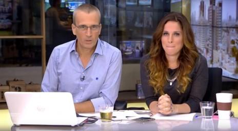 """אברי גלעד והילה קורח, בתוכנית """"העולם הבוקר"""" (צילום מסך)"""