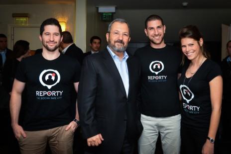 הפוליטיקאי בדימוס אהוד ברק באירוע קידום מכירות לאפליקציה, 16.3.16 (צילום: פלאש90)