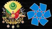 סמל הסתדרות העובדים החדשה (מימין) וסמל של האימפריה העות'מאנית (נחלת הכלל)