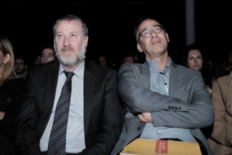 היועץ המשפטי לממשלה אביחי מנדלבליט (משמאל) ופרקליט המדינה שי ניצן (צילום: תומר נויברג)