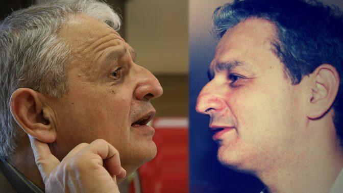 נחום ברנע. מימין: 1982, משמאל: 2008 (צילומים: פלאש 90)