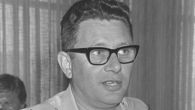 """תת-אלוף שלמה גזית, מתאם הפעולות בשטחים, 29.5.1969 (צילום: פריץ כהן, לע""""מ)"""