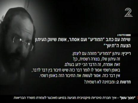 מתוך תחקיר חדשות ערוץ 2 (צילום מסך)