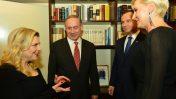 """נשיא פולין אנדז'יי דודה ורעייתו עם ראש ממשלת ישראל בנימין נתניהו ורעייתו, 18.1.17 (צילום: קובי גדעון, לע""""מ)"""