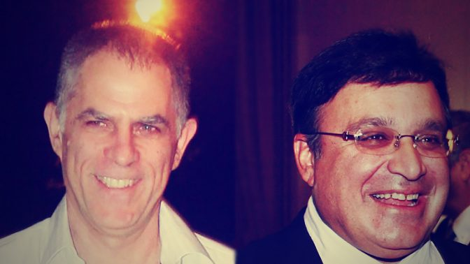 """מימין: עופר נמרודי, לשעבר מו""""ל """"מעריב""""; וארנון (נוני) מוזס, מו""""ל """"ידיעות אחרונות"""" (צילומים: פלאש 90)"""