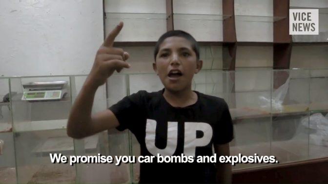 """מתוך הסרט התיעודי """"המדינה האסלאמית"""" בהפקת Vice News (צילום מסך)"""