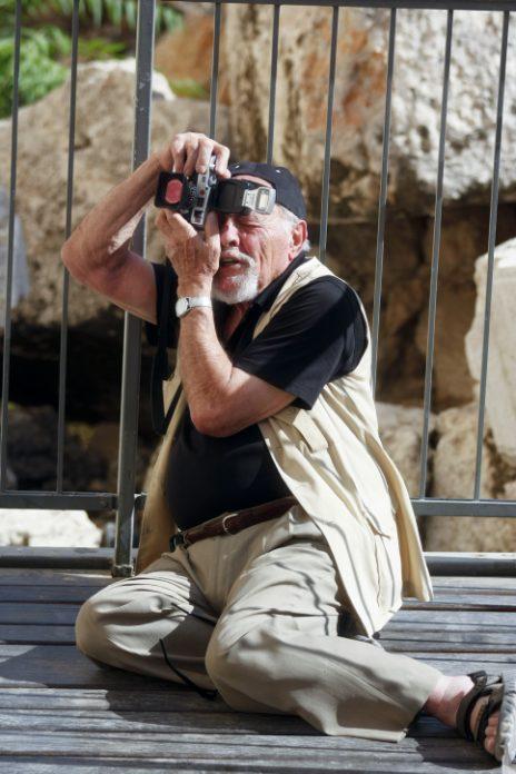 דוד רובינגר בעבודה, אוגוסט 2012 (צילום: אורן נחשון)