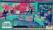 """דיון בתוכנית """"המטה המרכזי"""" של ערוץ 10 על חוק המואזין - בהשתתפות יהודים בלבד (צילום מסך)"""