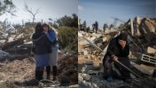 מראות באום אל-חיראן (מימין) ועמונה, חורף 2017 (צילומים: הדס פרוש)