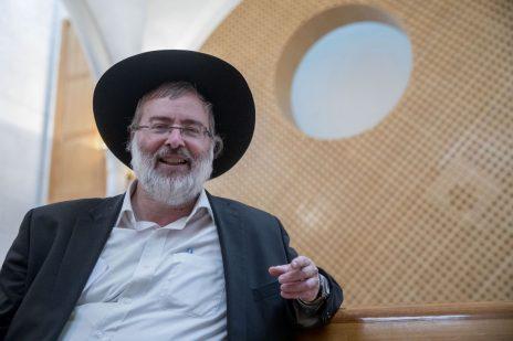 """נתי גרוסמן, עורך """"הפלס"""", בבית-המשפט העליון (צילום: יונתן זינדל)"""