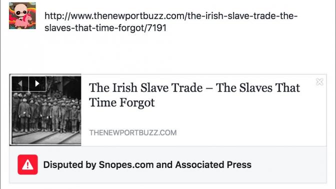 הפוסט המסומן בפייסבוק כחדשות מזויפות