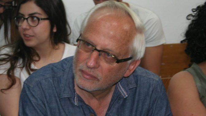 יגאל סרנה בדיון בבית-משפט השלום בתל-אביב–יפו, 18.5.17 (צילום: אורן פרסיקו)