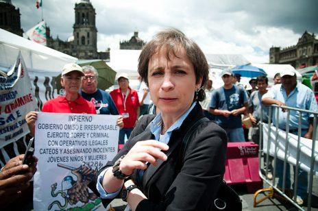 """העיתונאית המקסיקאית כרמן אריסטגי, מקורבנות תוכנת הריגול """"פגסוס"""" של חברת NSO הישראלית, לפי תחקיר ה""""ניו-יורק טיימס"""" (צילום: Eneas De Troya, רישיון cc-by-2.0)"""