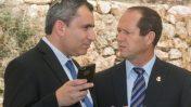 השר זאב אלקין עם ראש עיריית ירושלים ניר ברקת. יום ירושלים, 2016 (צילום: מארק ישראל סלם)