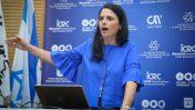 שרת המשפטים, איילת שקד, נואמת בכנס הסייבר באוניברסיטת תל-אביב. 25.6.17 (צילום: פלאש 90)