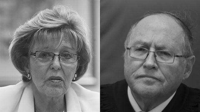 עדנה ארבל ואליקים רובינשטיין, היועץ המשפטי לממשלה ופרקליטת המדינה שהוציאו את ההנחיה הסודית (צילומים: פלאש 90)
