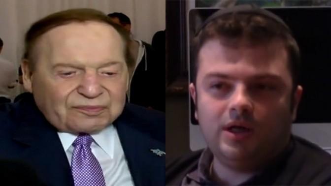 """יצחק מירילשוילי, בעל השליטה בערוץ 20, ושלדון אדלסון, הבעלים של """"ישראל היום"""" (צילומי מסך)"""