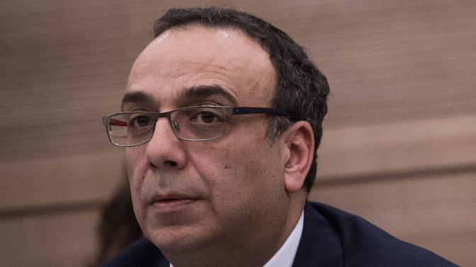 מנהל לשכת העיתונות הממשלתית, ניצן חן. הכנסת, 6.2.16 (צילום: הדס פרוש)