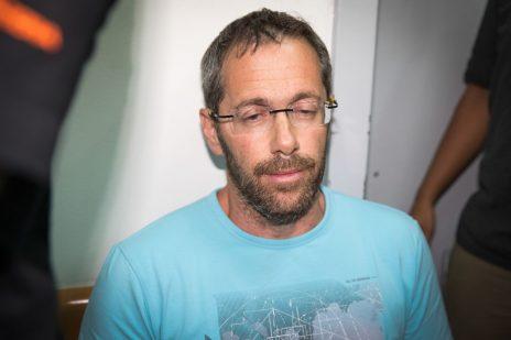 טל זילברשטיין בבית-משפט השלום בראשון-לציון, 14.8.17 (צילום: פלאש 90)