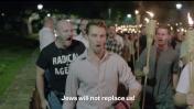"""הפגנת ניאו-נאצים בשרלוטסוויל, ארה""""ב, 11.8.2017 (צילום מסך מתוך שידורי Vice)"""
