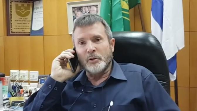 דרור שור, ראש המועצה המקומית באר-טוביה (צילום מסך)