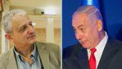 """ראש הממשלה בנימין נתניהו ועיתונאי """"ידיעות אחרונות"""" נחום ברנע (צילומים: יונתן זינדל וקובי גדעון)"""