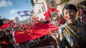 נוצרים מרחבי העולם עולים לרגל לירושלים בחג הסוכות, 10.10.17 (צילום: יונתן זינדל)