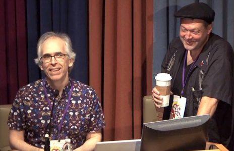 שאנון וילר (מימין) ורוברט סיקוריאק (צילום מסך מתוך ערוץ היוטיוב של פסטיבל SPX)
