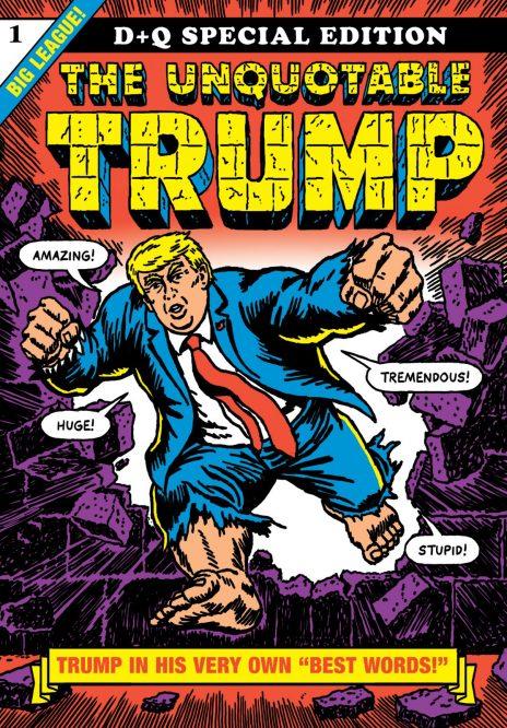 """כריכת ספרו של רוברט סיקוריאק, """"The Unquotable Trump"""" (לחצו להגדלה)"""